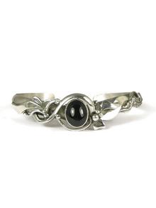 Sterling Silver Onyx Bracelet by Les Baker Jewelry (BR5601)