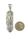 Dry Creek Turquoise Feather Pendant by Jane Defauto (PD4798)