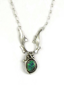 Sterling Silver Opal Necklace by Les Baker Jewelry
