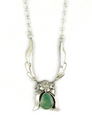 Natural Royston Turquoise Silver Necklace by Les Baker Jewelry
