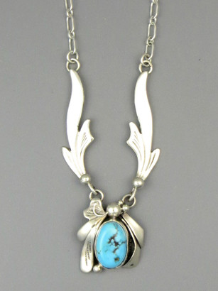 Kingman Turquoise Necklace by Les Baker Jewelry