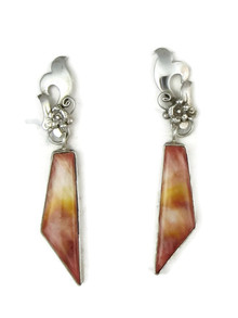 Spiny Oyster Shell Earrings by Les Baker Jewelry