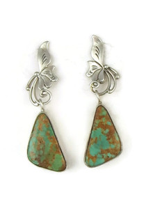 Royston Turquoise Earrings by Les Baker Jewelry