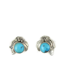 Sleeping Beauty Turquoise Post Earrings by Les Baker Jewelry