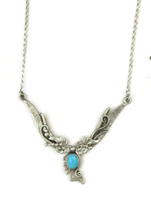 Sleeping Beauty Turquoise Necklace by Les Baker Jewelry