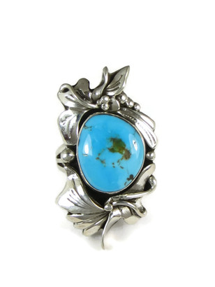 Blue Gem Turquoise Ring Size Size 7 by Les Baker Jewelry