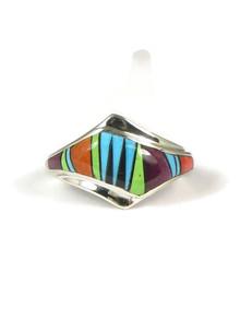 Multi Gemstone Inlay Ring Size 8 (RG3676)