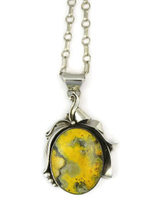 Bumble bee Jasper Pendant by Les Baker Jewelry