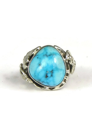 Blue Gem Turquoise Ring Size 5 Les Baker Jewelry