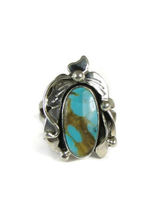 Pilot Mountain Turquoise Ring Size 7 by Les Baker Jewelry