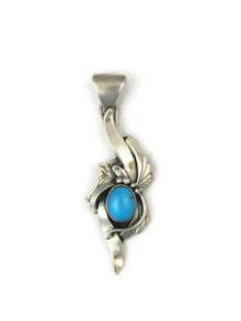Sleeping Beauty Turquoise Pendant by Les Baker Jewelry