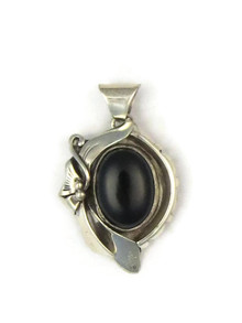 Silver Onyx Pendant by Les Baker Jewelry (PD4819)