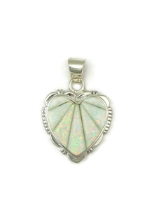 Opal Inlay Heart Pendant