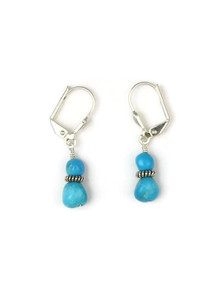 Turquoise Bead Earrings with Leverbacks