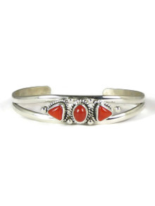Silver Mediterranean Coral Bracelet (BR4105)