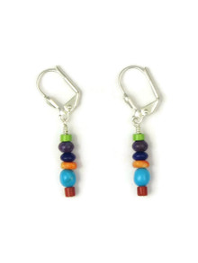 Multi Gemstone Bead Earrings Lever Backs