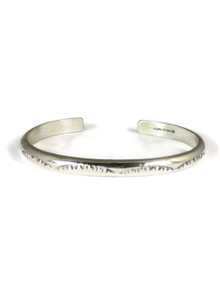 Hand Stamped Silver Bracelet by Elaine Tahe