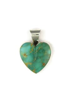 Kingman Turquoise Heart Pendant by Delina John (PD4840)