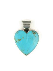 Kingman Turquoise Heart Pendant by Delina John (PD4841)