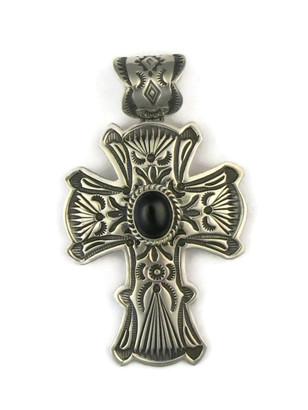 Handmade Onyx Cross Pendant by Happy Piaso