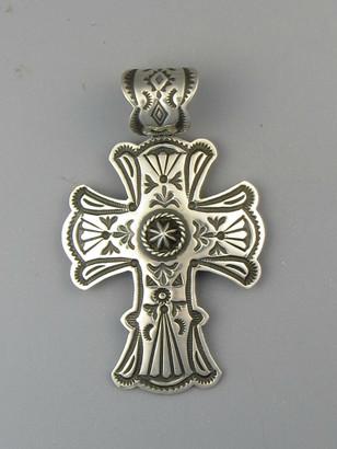 Handmade Silver Cross Pendant by Happy Piaso