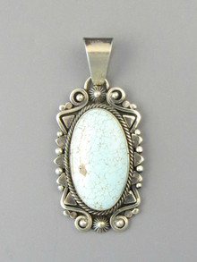 Number 8 Turquoise Pendant by Derrick Gordon