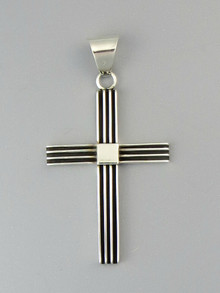 Sterling Silver Channel Cross Pendant by Francis Jones (PD4851)