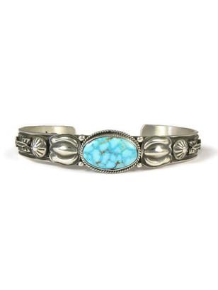 Kingman Turquoise Bracelet by Tsosie White