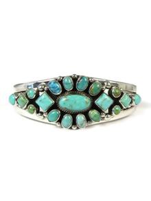 Kingman Turquoise Cluster Bracelet by Derrick Gordon