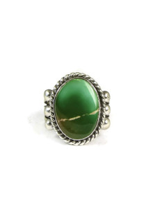 Pilot Mountain Turquoise Ring Size 8 3/4 by Linda Yazzie