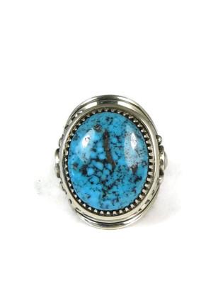 Ithaca Peak Kingman Turquoise Ring Size 9 by Derrick Gordon