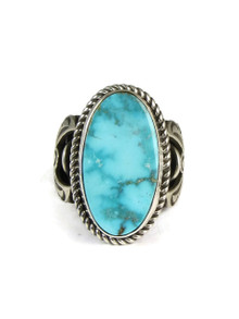 Kingman Turquoise Ring Size 8 by Albert Jake