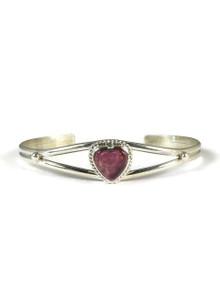 Purple Spiny Oyster Shell Heart Bracelet