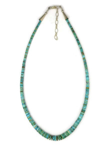 Turquoise Heishi Necklace with Extender Chain