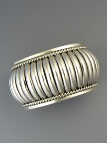 "Sterling Silver Cuff Bracelet 1 1/2"" by Thomas Charley"
