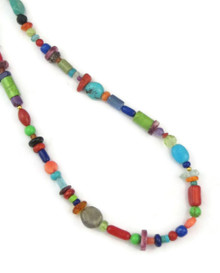 Multi Gemstone Bead Necklace 18""