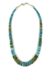 """Tri Color Turquoise Bead Necklace 19"""""""