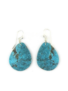 Turquoise Slab Earrings by Ronald Chavez (ER3681)