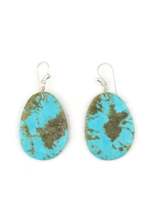 Turquoise Slab Earrings by Ronald Chavez (ER3682)