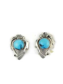 Sleeping Beauty Turquoise Post Earrings by Les Baker Jewelry (ER3696)