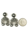 Handmade Sterling Silver Naja Earrings by Derrick Gordon