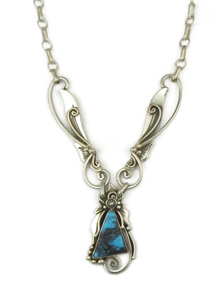 Natural Chinese Turquoise Necklace by Fritson Toledo