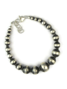 Gradated Silver Bead Bracelet