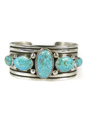 Five Stone Kingman Turquoise Bracelet by Albert Jake