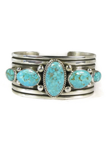 Five Stone Kingman Turquoise Bracelet by Albert Jake