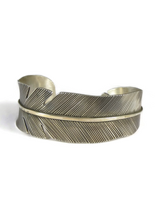 Silver Feather Bracelet by Lambert Perry