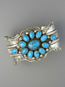 Sleeping Beauty Turquoise Cuff Bracelet by Matilda John