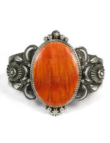 Orange Spiny Oyster Shell Bracelet by Derrick Gordon