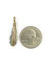 12k Gold & Sterling Silver Feather Pendant by Lena Platero (PD4849)