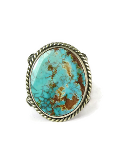 Pilot Mountain Turquoise Ring Size 10 by Albert Jake